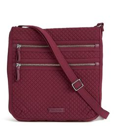 6c59af1c0a69 Vera Bradley Hawthorn Rose Iconic Triple-Zip Hipster Crossbody Bag