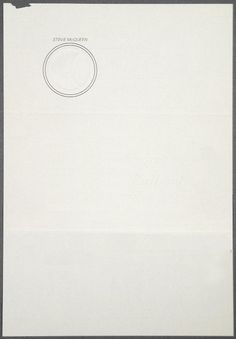 Steve McQueen's Letterhead.  I'm going to copy this.