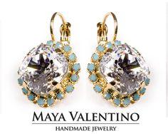 Gold Crystal Drop earrings droplet earrings Gift by MayaValentino