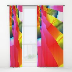 """Your drapes don't have to be so drab. Our awesome Window Curtains transform a neglected essential into an awesome statement piece. Featuring a single-sided print with a reverse white side.     - Dimensions: 50"""" (W) x 84"""" (H)   - Available in single or double panel options   - Crafted with 100% lightweight polyester, blocks out some light   - 4"""" hanging pocket for easy hanging on any rod   - Single side print on front with reverse white side   - Machine wash cold, tumble dry low Window Curtains, Wall Prints, Windows, Graphics, Cold, Pocket, Awesome, Outdoor Decor, Easy"""
