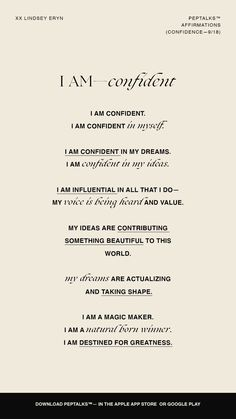 Affirmations Confidence, Daily Positive Affirmations, Positive Affirmations Quotes, Morning Affirmations, Confidence Quotes, Affirmation Quotes, Positive Quotes, Motivacional Quotes, Words Quotes