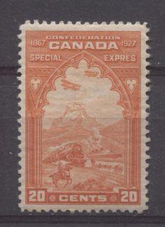 Canada #E3 20c Orange Red 1927 Confederation Issue No Mesh VF-75 OG
