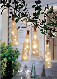 Solarleuchte BOTTLES 4er-Set gefrostetes Glas Gartenlampe Hängelampe LED in Möbel & Wohnen, Beleuchtung, Sonstige   eBay!