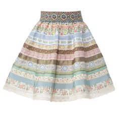 """Traditional Lena Hoschek Tradition ribbon skirt for children in the colour """"Sommerfrische"""" Ribbon Skirts, Vintage Inspired Outfits, Rock, Perfect Match, Traditional Outfits, 6 Years, Mini, Summer Dresses, Cotton"""