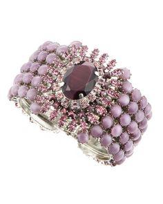 RODRIGO OTAZU   Crystal & Cabochon Bangle, Purple