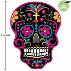 3-inch-Mexican-Sugar-Skull-Phone-Decal-Sticker-Day-of-the-Dead-37