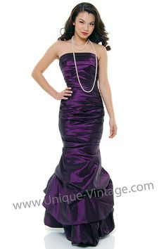 Only $60!   http://www.unique-vintage.com/eggplant-taffeta-ruched-pick-mermaid-prom-dress-p-11447.html