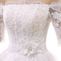 2014 latest fashion word shoulder neck long-sleeved dress big tail Slim was thin lace wedding dress long tail - Taobao