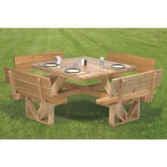 Mary Maxim - Square Picnic Table Wood Pattern