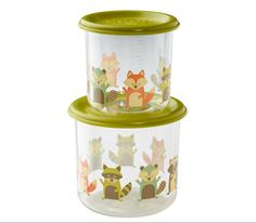 These snack containers are durable and adorable to boot! Your little one's snacks will stay crisp & fresh in these leak-proof, stain resistant, stackable containers. Fox Eat, Fox Images, Food Portions, Snack Containers, Little Red Hen, Lunch Snacks, Baby Store, Safe Food, At Least