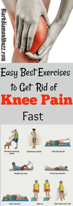 Easy Best Exercises to Get Rid of Knee Pain Fast.These workouts are proven to strengthen your knees and you will get total relief from arthritis patellar tendonitis chondromalacia patellae and lower back pain. Chondromalacia Patellae, Knee Strengthening Exercises, Knee Stretches, Exercises For Knees, Exercise For Bad Knees, Foot Exercises, How To Strengthen Knees, Knee Pain Relief, Knee Injury