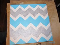 DIY Chevron Canvas - Easy College Craft!