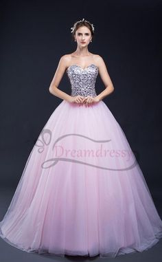 sweetheart pink quinceanera dresses with silver sequins top, sweet 16 dress Best Prom Dresses, Sweet 16 Dresses, Homecoming Dresses, Cute Dresses, Beautiful Dresses, Formal Dresses, Wedding Dresses, Matric Dance Dresses, Sequin Evening Dresses