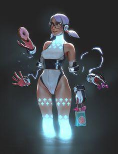 Mesmerizing Animated Art by Gui Guimaraes – Cyberpunk Gallery Female Character Design, Character Design References, Character Concept, Character Art, Concept Art, Art Manga, Anime Art, Sci Fi Anime, Performance Kunst