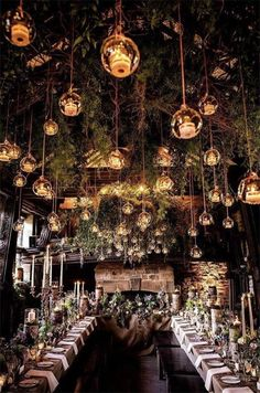 Enchanted Forest Wedding Theme Best Picture For summer Wedding Decor For Your Taste You are looking Forest Wedding Decorations, Enchanted Forest Decorations, Woodland Wedding, Wedding Rustic, Enchanted Forest Theme Party, Enchanted Wedding Themes, Wedding Ceiling Decorations, Elvish Wedding, Wedding Vows