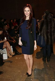 Alyssa Campanella.. Whistles dress, with clutch and heels by ASOS..... - Celebrity Fashion Trends