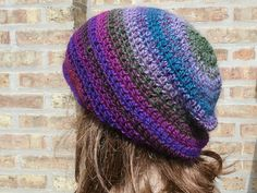 $27.00 Click to order Slouchy Hat - Womens Hat - The Eden in Jubilant - Mens Hat - Gamer Hat - Slouchy Beanie