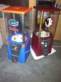 FSU vs UF gum-ball machines.