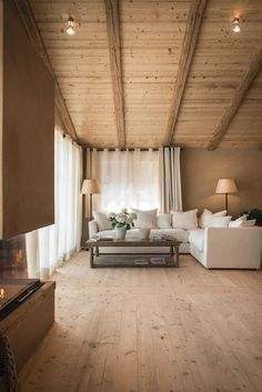 View the full picture gallery of San Luis - Private Retreat Hotel & Lodges Chalet Interior, Home Interior Design, Wooden House, Cabin Homes, House In The Woods, My Dream Home, Home Fashion, Living Spaces, Living Room
