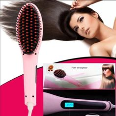 SLS Black Strands hair brush Magic hair straightening brush has ultra smooth ceramic plates for effortless glide. Pro variable temperature control for all types of hair. Good to straighten curl, flick and twist in one effortless pass. SLS Black Strands  Accessories Hair Accessories