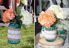 turquoise, black, burlap, and lace wedding - Google Search