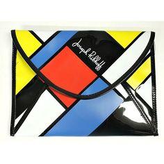 Joseph Ribkoff Clutch Mondrian Art Color Block Purse Handbag Patent... ($60) ❤ liked on Polyvore featuring bags, handbags, clutches, yellow clutches, hand bags, patent purse, yellow patent leather handbags and colorblock handbags