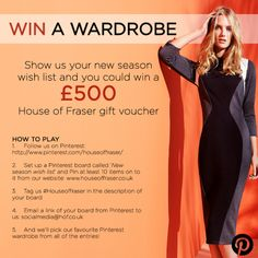 Win a wardrobe at House of Fraser! Look Magazine, House Of Fraser, Wish, Competition, Stylists, Girly, Seasons, My Style, Summer