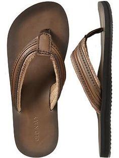 862a5b4812a21 Men s Leather Flip-Flops