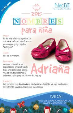 """infografía para pinterest NecBB """"Nombres para Niña"""""""