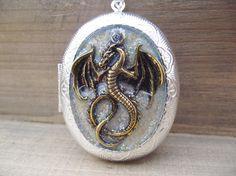 Dragonborn - Medieval Dragon Locket Necklace