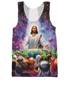 Jesus Feeds the Sims Tank Top