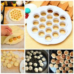 1 Pcs 21x 2cm Kitchen Pastry Tools DIY White Plastic Dumpling Mold Maker Dough Press Dumpling 19 Holes Dumplings Maker Mold