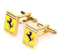 """Ferrari Cuff links Gift Boxed(wedding cufflinks,jewelry for men,gift for groom) by Cigchic. $17.50. Come along with a beautiful jewelery case. Make: Brass/Coated steel. Dimension: 1/2""""x3/4"""". Features:Suit Up! These handsome cufflinks are perfect for the sophisticated man who wants to add a little extra flourish to his style.The cufflinks are metal, so they have a good weight to them and will last a long time, and the black enamel design will look great on your sleeve..."""
