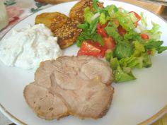 bunte halogenofenrezepte: Nackenbraten in Salzkruste aus dem Halogenofen Pork, Beef, Recipes, Good Ideas, Food Food, Cooking, Kale Stir Fry, Meat