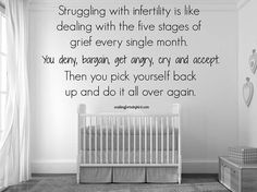 And then some. Infertility has been proven to be as stressful as going through cancer.