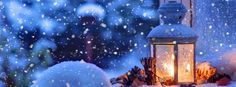 Snow winter lighting: The perfect Christmas feel.  #Facebook #Christmas #CoverPhotos