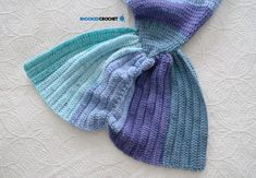 """""""This is a redesign of the very popular Mystic Mermaid Cocoon by B.hooked Crochet published in Now you can crochet the most popular crochet mermaid tail pattern in baby, toddler, child, teen and adult sizes! Crochet Mermaid Tail Pattern, Crochet Mermaid Blanket, Mermaid Tail Blanket, Mermaid Tails, Mermaid Mermaid, Vintage Mermaid, Crochet Toddler, Crochet For Kids, Crochet Baby"""
