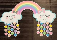Martha Aguirre Abensur's media content and analytics Rainbow Birthday, Unicorn Birthday, Baby Birthday, Birthday Decorations, Baby Shower Decorations, Diy For Kids, Crafts For Kids, Cloud Party, Birthday Charts