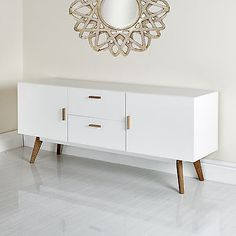 New Scandinavian Retro TV Stand Sideboard Furniture White Grey 32 37 42 50 52 55