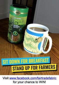 Fairtrade Fortnight coffee prize - win at www.facebook.com/fairtradefabric  #fairtradefortnight