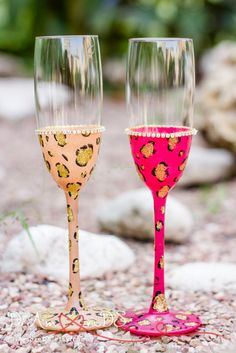 Wedding party champagne flutes hen party birthday by DiAmoreDS