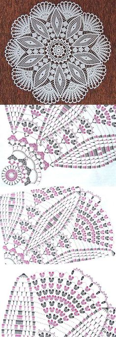 32 Ideas crochet lace motif charts ganchillo for 2019 Crochet Doily Diagram, Crochet Mandala Pattern, Crochet Chart, Thread Crochet, Crochet Stitches, Crochet Dollies, Crochet Lace, Knitting Patterns, Crochet Patterns