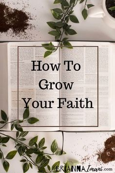 Today I share 4 ways to grow your faith. Growing your faith is actually a lot easier than we all think. Bible Study Plans, Bible Study Tips, Bible Study Journal, Art Journaling, Faith Bible, Jesus Bible, Bible Scriptures, Comforting Scripture, Bible Studies For Beginners