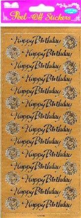 Dinglefoot's Scrapbooking - Gold Happy Birthday & Sunflower Peel-Offs $1.29 http://www.dinglefoot.com/gold-happy-birthday-sunflower-peel-offs/