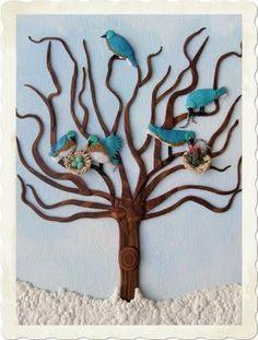 Bluebirds by Tammy Durham - Polymer Clay Illustrator/Artist