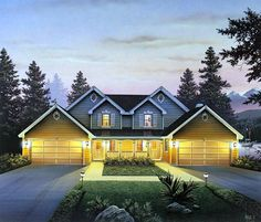 Multi-Family Plan 86954 | Country Traditional Plan with 2986 Sq. Ft., 6 Bedrooms, 6 Bathrooms, 4 Car Garage