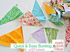 Quick & Easy Bunting by Simply Fresh Vintage, via Flickr