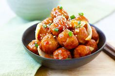 Sweet and Sour Meatballs - the best meatballs ever with sweet and sour sauce. These meatballs are so good you'll want them everyday! | rasamalaysia.com