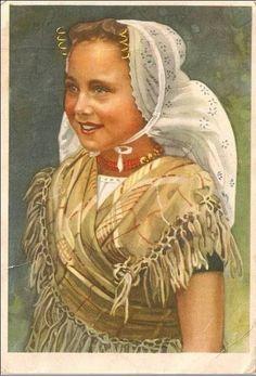 Vintage Postcard...Zeeuws Meisje
