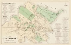Old City Map - Annapolis Maryland - Hopkins 1877 - 23 X 35.81